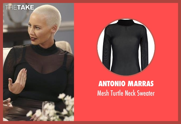 Antonio Marras black sweater from Black-ish seen with Dominique (Amber Rose)