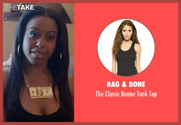 Rag & Bone black top from Get Hard seen with Dominique Perry (Shonda)