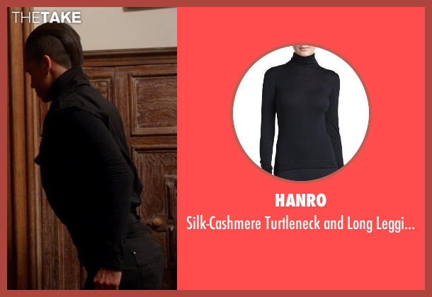 Hanro black leggings from Vampire Academy seen with Dominique Tipper (Guardian Gabriela)