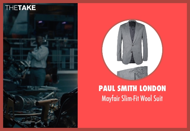 Paul Smith London gray suit from Avengers: Age of Ultron seen with Don Cheadle (Colonel James Rhodes / War Machine)