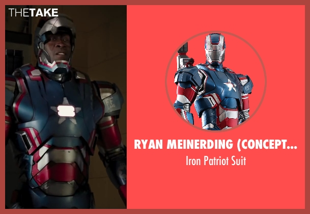 Ryan Meinerding (Concept Artist) suit from Iron Man 3 seen with Don Cheadle (Colonel James Rhodes / War Machine)