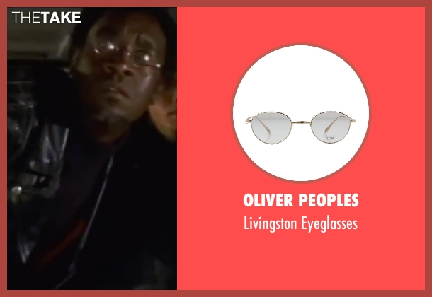 Oliver Peoples gold eyeglasses from Ocean's Eleven seen with Don Cheadle (Basher Tarr)