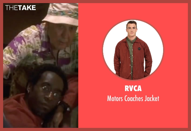 RVCA red jacket from Ocean's Eleven seen with Don Cheadle (Basher Tarr)