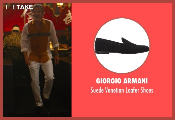 Giorgio Armani black shoes from The Other Woman seen with Don Johnson (Frank)