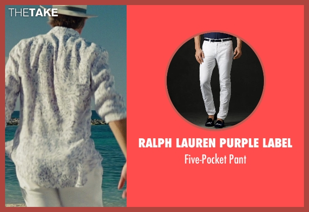 Ralph Lauren Purple Label white pant from The Other Woman seen with Don Johnson (Frank)