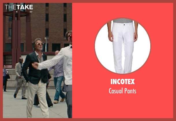 Incotex white pants from The Other Woman seen with Don Johnson (Frank)