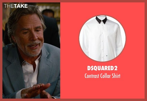Dsquared2 white shirt from The Other Woman seen with Don Johnson (Frank)