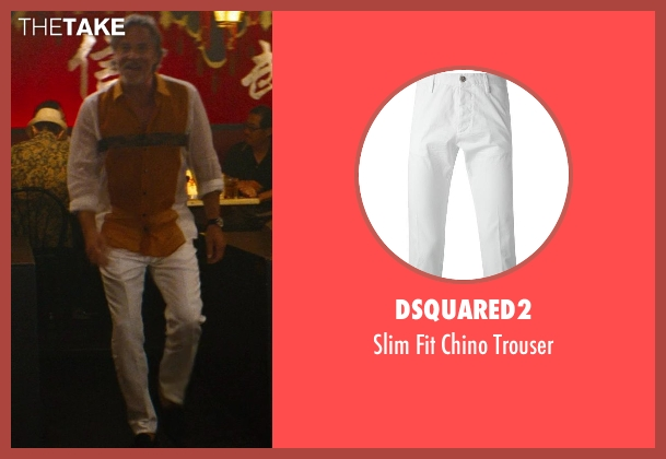 Dsquared2 white trouser from The Other Woman seen with Don Johnson (Frank)