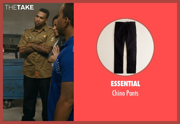 Essential black pants from Fast Five seen with Don Omar (Santos)