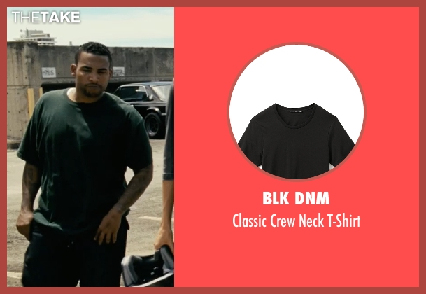 BLK DNM black t-shirt from Fast Five seen with Don Omar (Santos)