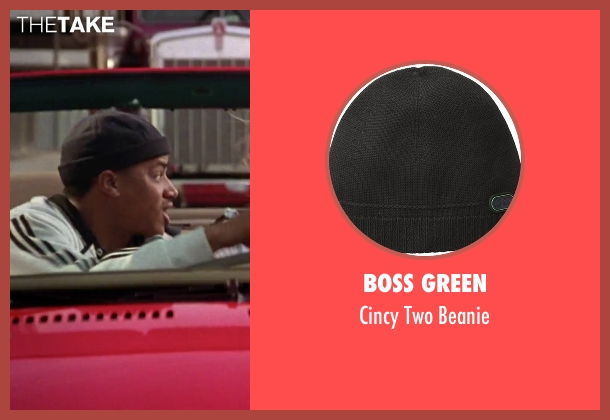 Boss Green black beanie from Clueless seen with Donald Faison (Murray)