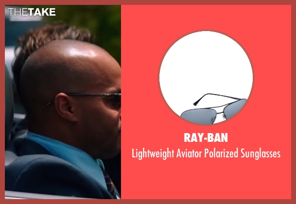 Ray-Ban black sunglasses from Wish I Was Here seen with Donald Faison