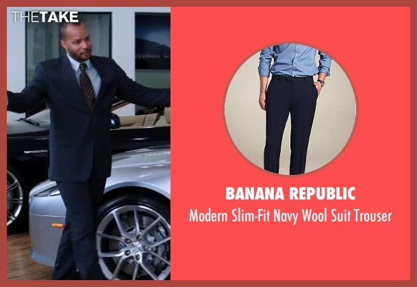 Banana Republic blue trouser from Wish I Was Here seen with No Actor (Anthony)