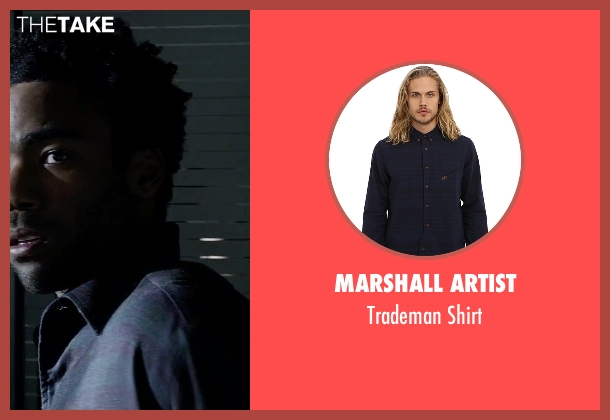 Marshall Artist blue shirt from The Martian seen with Donald Glover (Rich Purnell)