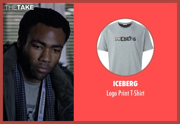 Iceberg gray t-shirt from The Martian seen with Donald Glover (Rich Purnell)