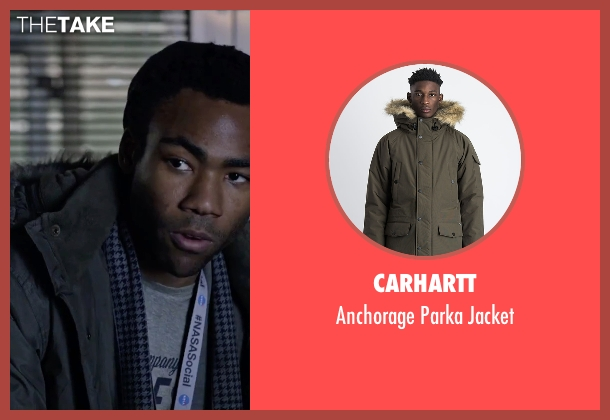 Carhartt green jacket from The Martian seen with Donald Glover (Rich Purnell)