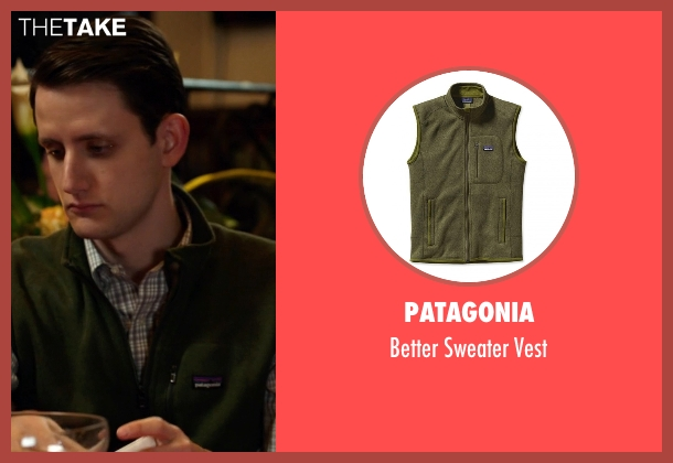 Patagonia green vest from Silicon Valley seen with Donald 'Jared' Dunn  (Zach Woods)