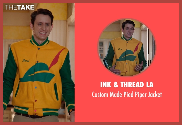 Ink & Thread LA jacket from Silicon Valley seen with Donald 'Jared' Dunn  (Zach Woods)