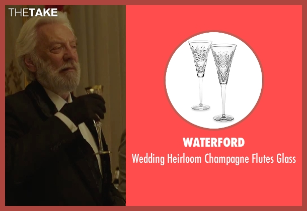 Waterford glass from The Hunger Games: Mockingjay - Part 2 seen with Donald Sutherland (President Snow)