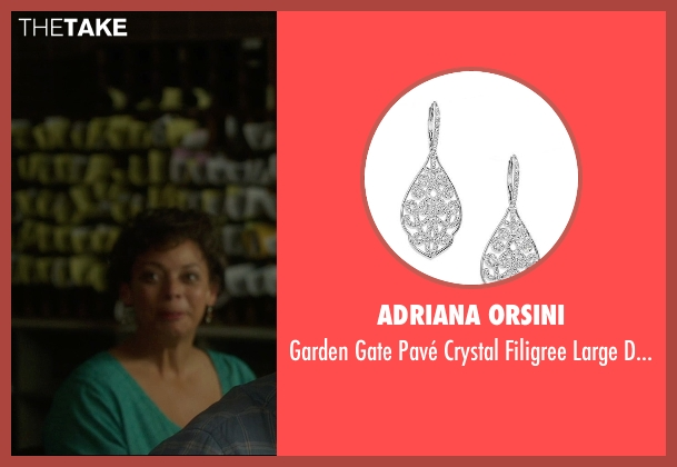 Adriana Orsini silver earrings from The D Train seen with Donna Duplantier (Taj)