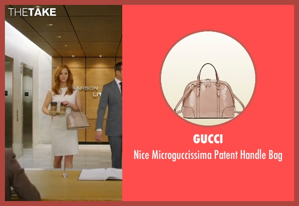 Gucci beige bag from Suits seen with Donna Roberta Paulsen (Sarah Rafferty)