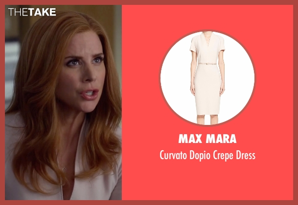 Max Mara  beige dress from Suits seen with Donna Roberta Paulsen (Sarah Rafferty)