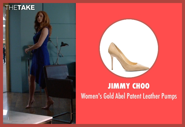 Jimmy Choo beige pumps from Suits seen with Donna Roberta Paulsen (Sarah Rafferty)