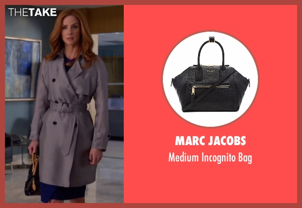 Marc Jacobs black bag from Suits seen with Donna Roberta Paulsen (Sarah Rafferty)