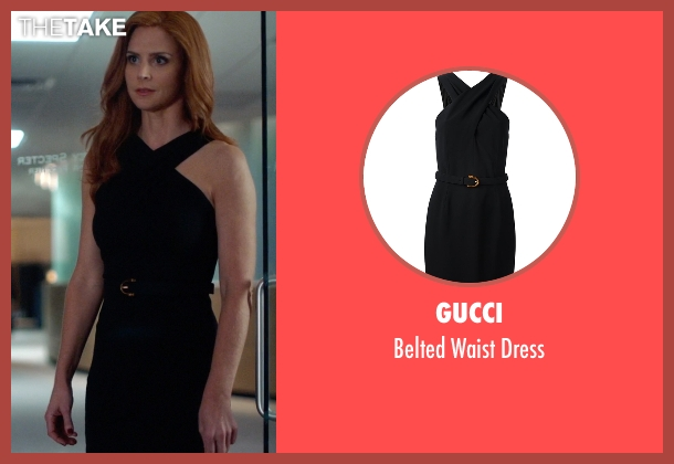 Gucci black dress from Suits seen with Donna Roberta Paulsen (Sarah Rafferty)
