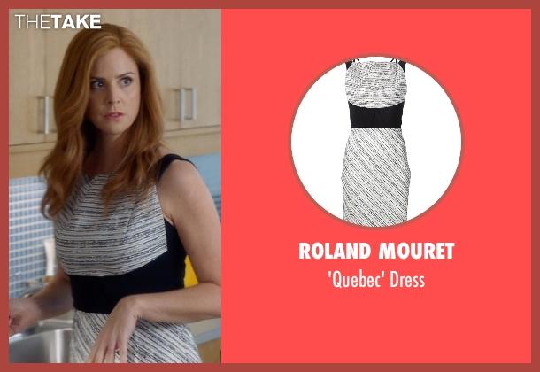 Roland Mouret black dress from Suits seen with Donna Roberta Paulsen (Sarah Rafferty)