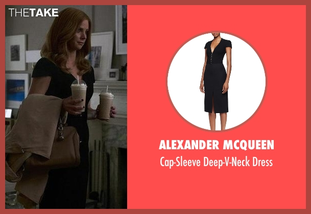Alexander McQueen black dress from Suits seen with Donna Roberta Paulsen (Sarah Rafferty)