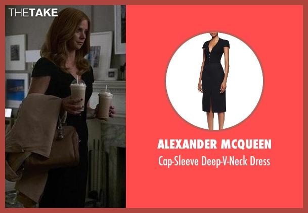 Alexander McQueen black dress from Suits seen with Donna Roberta Paulsen (Sarah Rafferty)