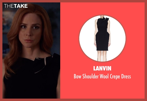 Lanvin black dress from Suits seen with Donna Roberta Paulsen (Sarah Rafferty)