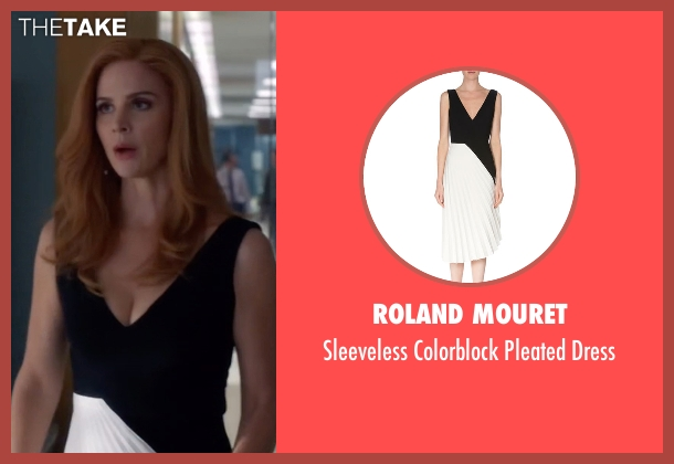 Roland Mouret black dress from Suits seen with Donna Roberta Paulsen (Sarah Rafferty)