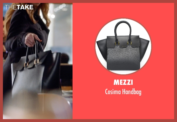 Mezzi black handbag from Suits seen with Donna Roberta Paulsen (Sarah Rafferty)