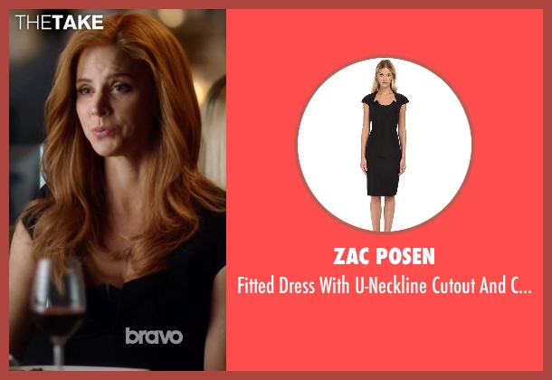 Zac Posen black sleeves from Suits seen with Donna Roberta Paulsen (Sarah Rafferty)