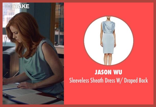 Jason Wu blue back from Suits seen with Donna Roberta Paulsen (Sarah Rafferty)