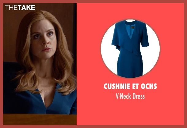 Cushnie Et Ochs blue dress from Suits seen with Donna Roberta Paulsen (Sarah Rafferty)