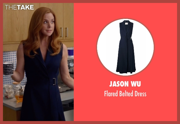 Jason Wu blue dress from Suits seen with Donna Roberta Paulsen (Sarah Rafferty)