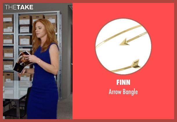 Finn gold bangle from Suits seen with Donna Roberta Paulsen (Sarah Rafferty)