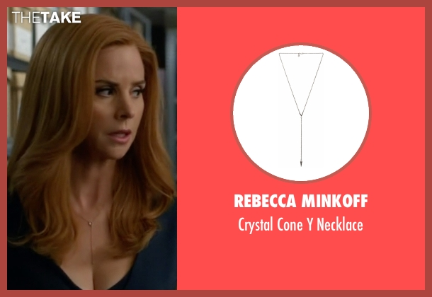 Rebecca Minkoff gold necklace from Suits seen with Donna Roberta Paulsen (Sarah Rafferty)