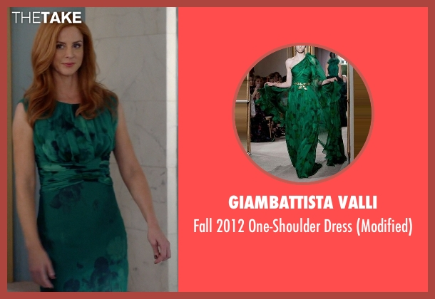 Giambattista Valli green dress from Suits seen with Donna Roberta Paulsen (Sarah Rafferty)