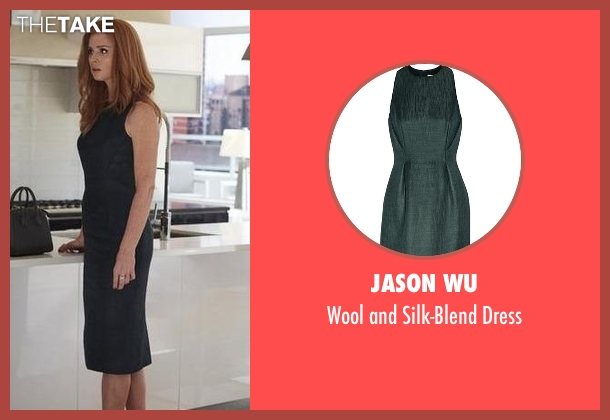 Jason Wu green dress from Suits seen with Donna Roberta Paulsen (Sarah Rafferty)