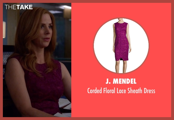 J. Mendel pink dress from Suits seen with Donna Roberta Paulsen (Sarah Rafferty)