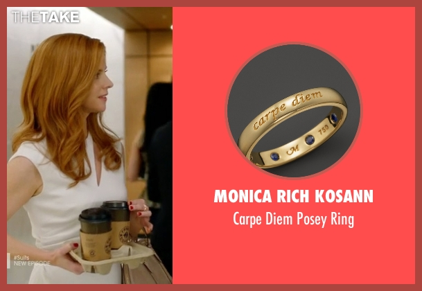 Monica Rich Kosann ring from Suits seen with Donna Roberta Paulsen (Sarah Rafferty)