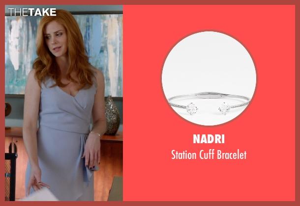 Nadri silver bracelet from Suits seen with Donna Roberta Paulsen (Sarah Rafferty)