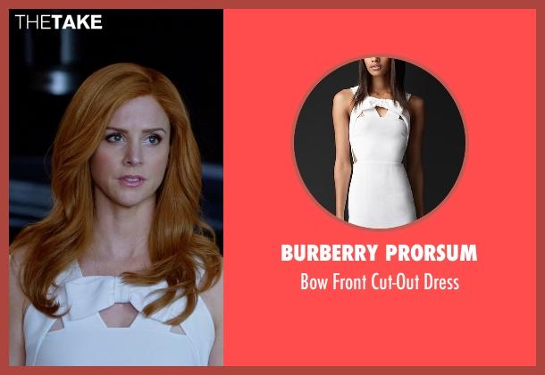 Burberry Prorsum white dress from Suits seen with Donna Roberta Paulsen (Sarah Rafferty)