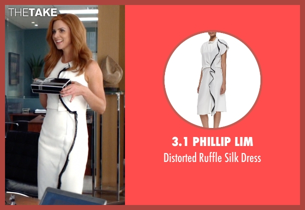 3.1 Phillip Lim	 white dress from Suits seen with Donna Roberta Paulsen (Sarah Rafferty)
