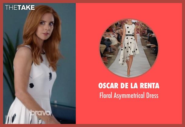 Oscar de la Renta white dress from Suits seen with Donna Roberta Paulsen (Sarah Rafferty)