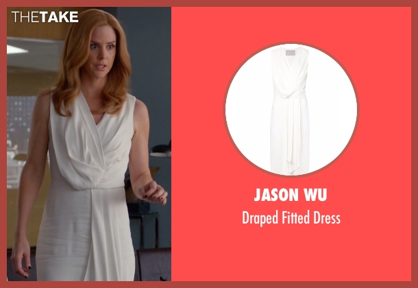 Jason Wu white dress from Suits seen with Donna Roberta Paulsen (Sarah Rafferty)